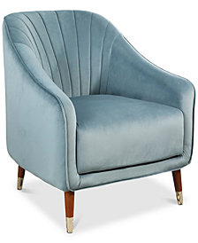 Jennet Velvet Armchair, Quick Ship