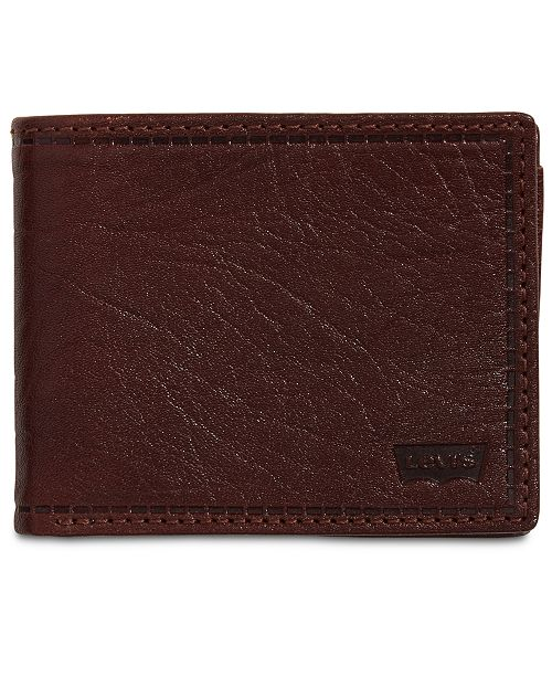 Levi's Men's RFID Extra-Capacity Leather Wallet
