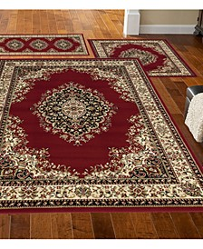 Stadio Kerman Red 3-Pc. Rug Set