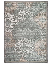 "KM Home Teramo Intrigue 7'10"" Round Area Rug"