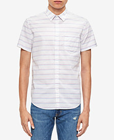 Calvin Klein Jeans Men's Space-Dyed Striped Shirt