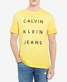 Calvin Klein Jeans Men's Garment Dyed Logo T-Shirt