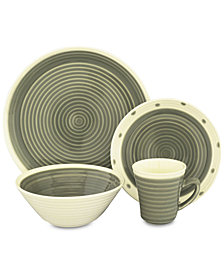 Sango Rico Gray 16-Pc. Dinnerware Set