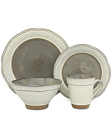 Sango Ruvo Gray 16-Pc. Dinnerware Set