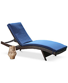 Romani Outdoor Patio Chaise, Quick Ship