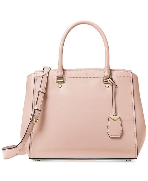 2cda72c45b1b1 Michael Kors Benning Large Leather Satchel   Reviews - Handbags ...