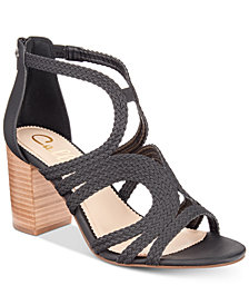 Callisto Shindig Strappy Block-Heel Sandals