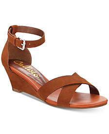 Callisto Strobe Crisscross Wedge Sandals