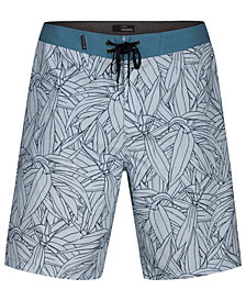 "Hurley Men's Pupukea Tropical-Print 20"" Board Shorts"