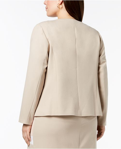 ee4e99887f4 Plus Size Colorblocked Jacket. Be the first to Write a Review. main image  ...
