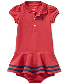 Ralph Lauren Cotton Polo Dress, Baby Girls