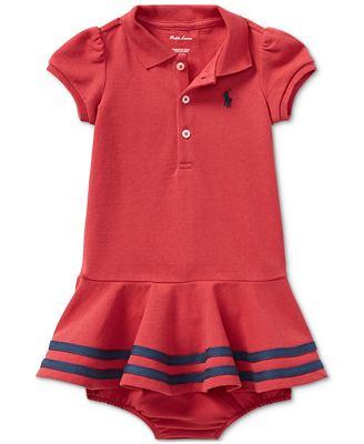 Polo Ralph Lauren Ralph Lauren Cotton Polo Dress Baby Girls