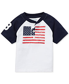 Ralph Lauren Cotton Graphic Henley Shirt, Baby Boys