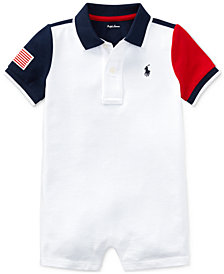 Ralph Lauren Cotton Polo Romper, Baby Boys