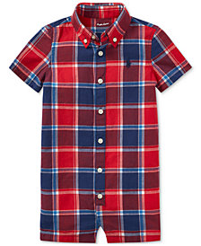 Ralph Lauren Cotton Madras Romper, Baby Boys