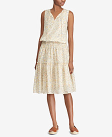 Lauren Ralph Lauren Petite Floral-Lace Dress