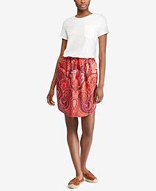 Lauren Ralph Lauren Petite Contrast Shirtdress
