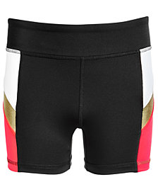 Ideology Big Girls Colorblocked Compression Shorts, Created for Macy's