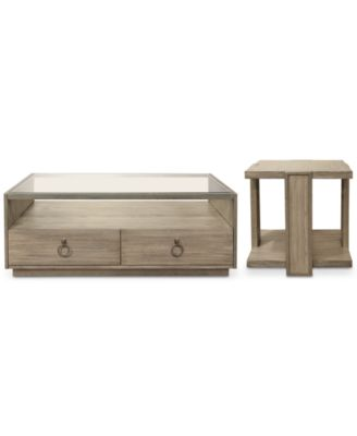 Esme Table Furniture, 2-Pc. Set ( Rectangle Coffee Table & Square End Table)