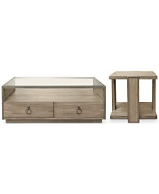 Esme Table Furniture, 2-Pc. Set (Rectangle Coffee Table & Square End Table)