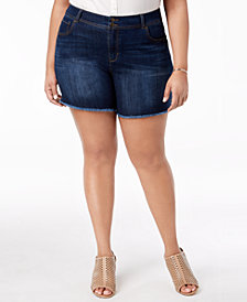 Style & Co Plus Size Raw-Hem Shorts, Created for Macy's