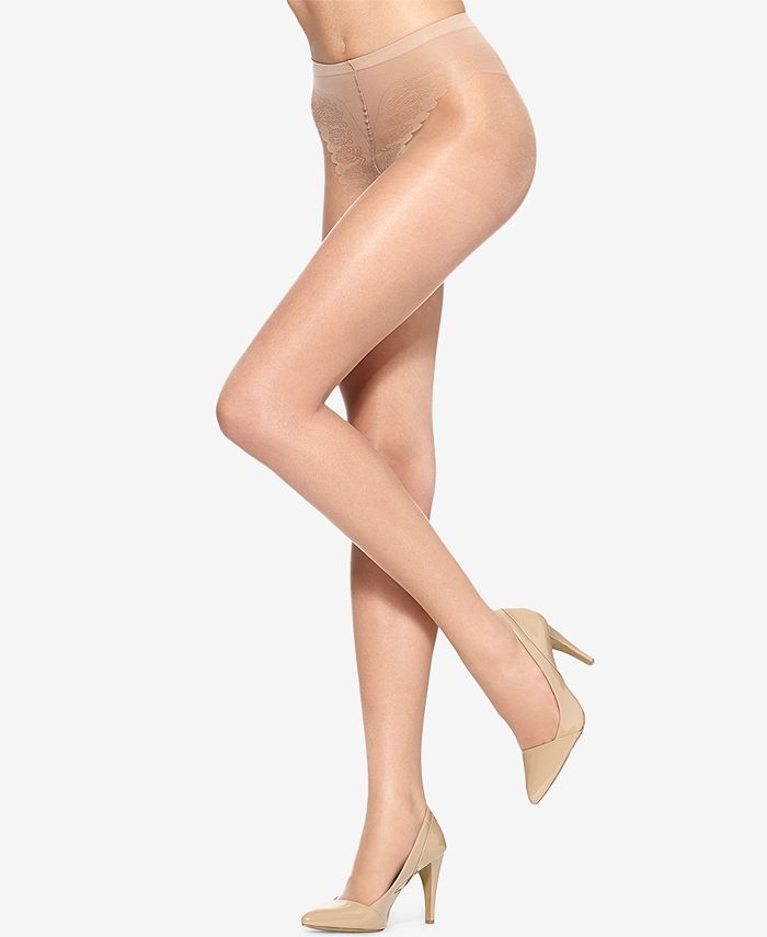 Hue - HUE French Lace Control Top Hosiery