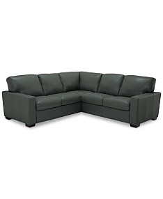 Green Leather Sectional Sofas & Couches - Macy\'s