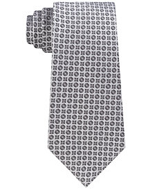 Calvin Klein Men's Clean Medallion Slim Silk Tie