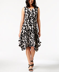 JM Collection Handkerchief-Hem Dress, Created for Macy's