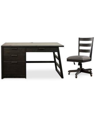 Ridgeway Home Office Furniture, 2-Pc. Set (Single Pedestal Desk & Wood Back Chair)