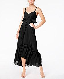 Calvin Klein Ruffled Chiffon Maxi Dress