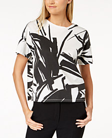 Weekend Max Mara Baldi Cotton Printed Top