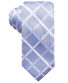 Ryan Seacrest Distinction™ Men's Rompaey Check Slim Silk Tie, Created for Macy's