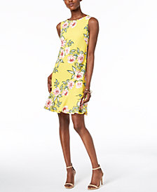 Jessica Howard Floral-Print A-Line Dress, Regular & Petites