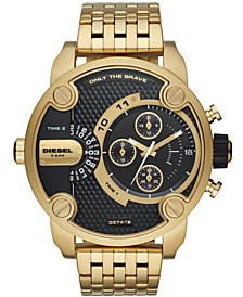 Men's Chronograph Little Daddy Gold-Tone Stainless Steel Bracelet Watch 52mm