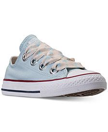 Converse Big Girls' Chuck Taylor All Star Big Eyelets Ox Casual Sneakers from Finish Line