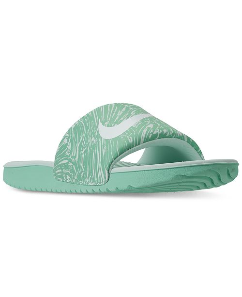 7018545be Nike Big Girls  Kawa Print Slide Sandals from Finish Line   Reviews ...