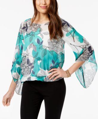 Angel-Sleeve Blouson Top, Created for Macy's
