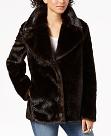 Kendall + Kylie Faux-Fur Peacoat