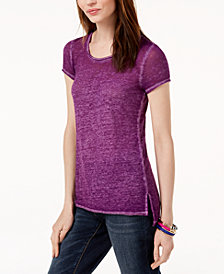 I.N.C. Crew-Neck High-Low T-Shirt, Created for Macy's