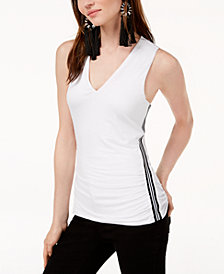 I.N.C. Varsity-Stripe Tank Top, Created for Macy's