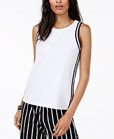 I.N.C. Petite Striped Tank Top, Created for Macy's