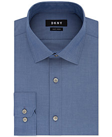 DKNY Men's Slim-Fit Performance Stretch Solid Dress Shirt