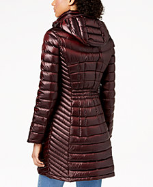 Calvin Klein Petite Hooded Packable Down Puffer Coat