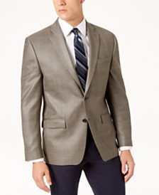 Lauren Ralph Lauren Men's Classic-Fit Ultraflex Stretch Olive Windowpane Sport Coat