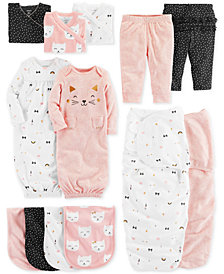 Carter's Baby Girls Cat-Print Layette Separates