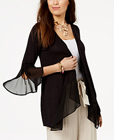 Thalia Sodi Draped Semi-Sheer Cardigan, Created for Macy's