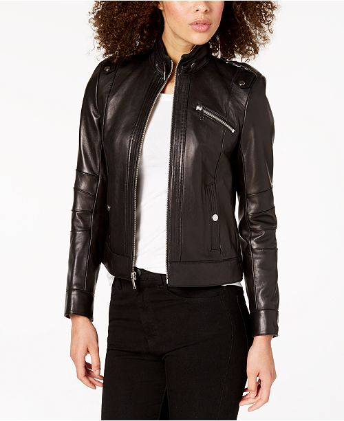 Leather Marc Jacket Black New York Moto 7W7AT0OE4