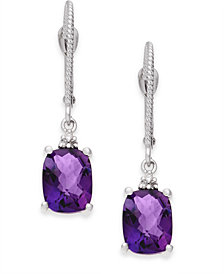 Amethyst (2-3/4 ct. t.w.) & Diamond Accent Drop Earrings in 14k White Gold