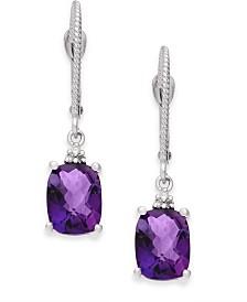 Amethyst (2-3/4 ct. t.w.) & Diamond Accent Drop Earrings in 14k White Gold